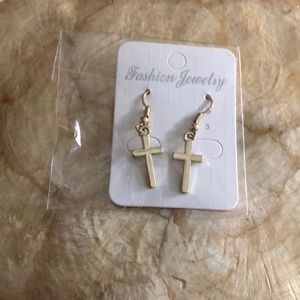 Earrings !gold crosses. Perfect length!